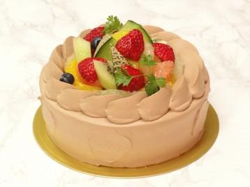 フルーツのショコラショートデコレーション